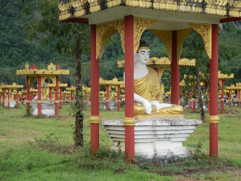10000 buddha's hpa-an myanmar