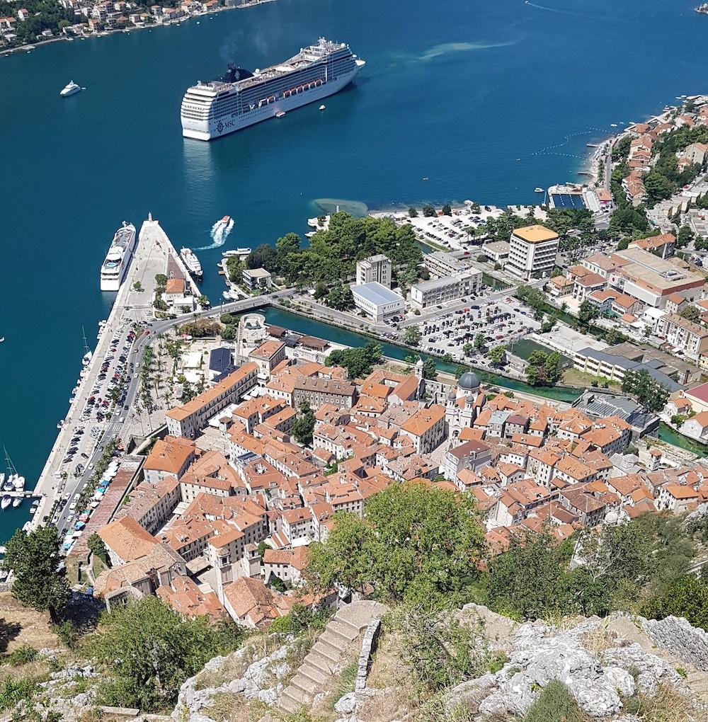 Kotor Montenegro cruiseschip