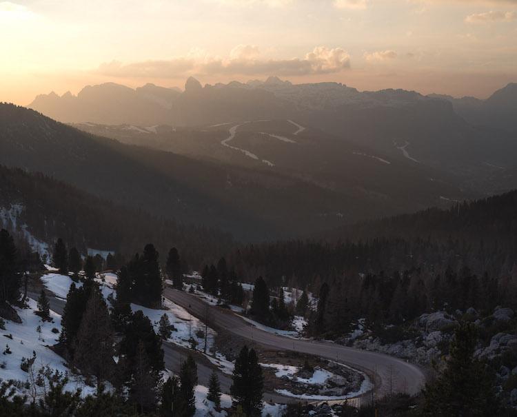 3 bergen wegen dolomieten zonsondergang
