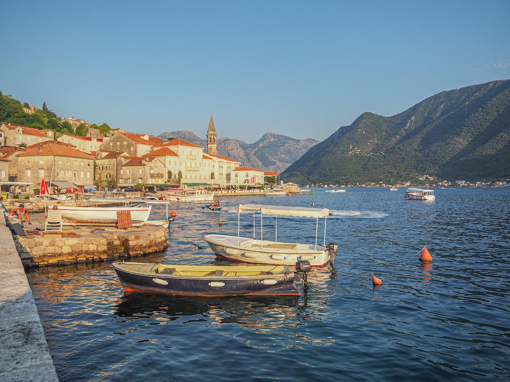 De baai van Perast, Montenegro