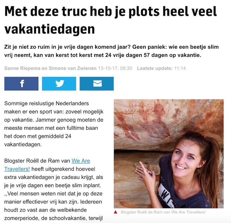 Ad interview wearetravellers vakantiedagen algemeen dagblad