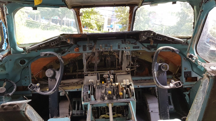 Airplane Graveyard Bangkok cockpit