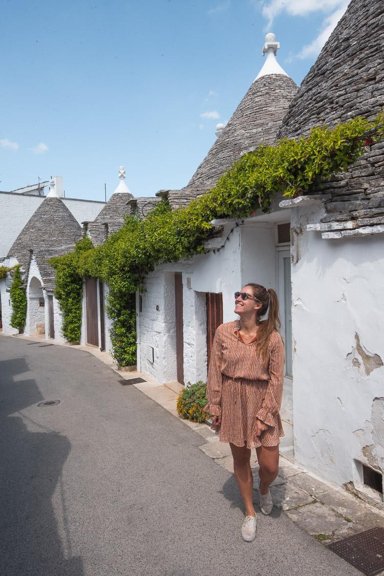 Alberobello straatjes met trulli