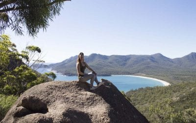 Alleen backpacken Australie Wineglass bay