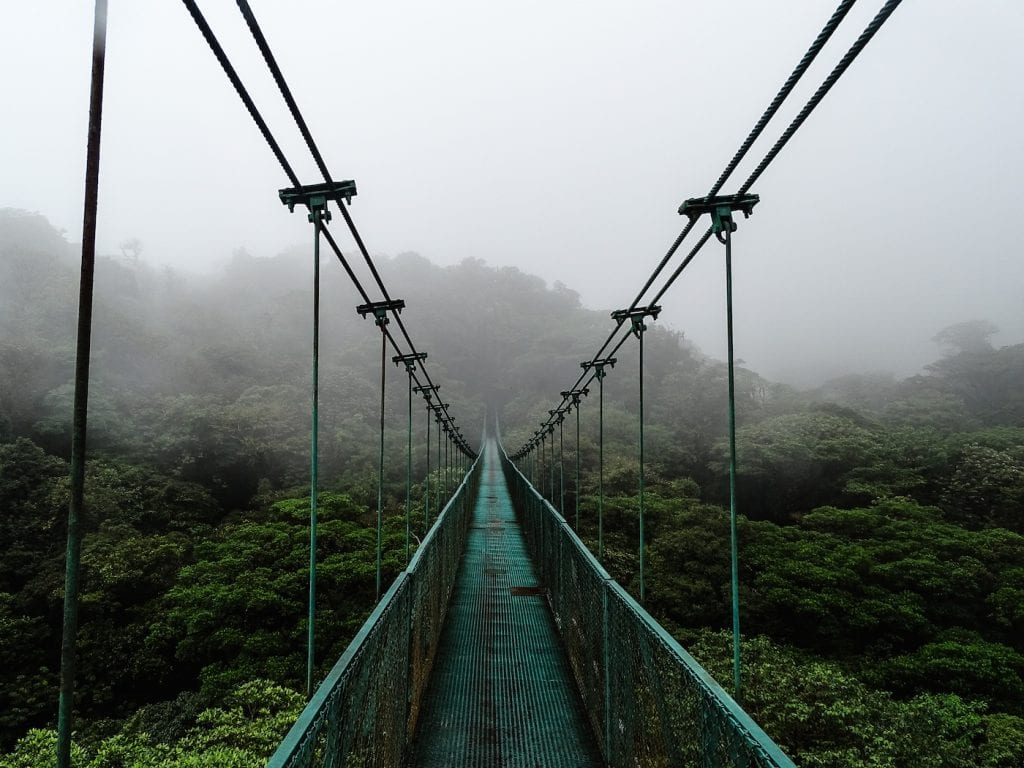 Alleen backpacken costa rica Monteverde - Suspension bridges 2