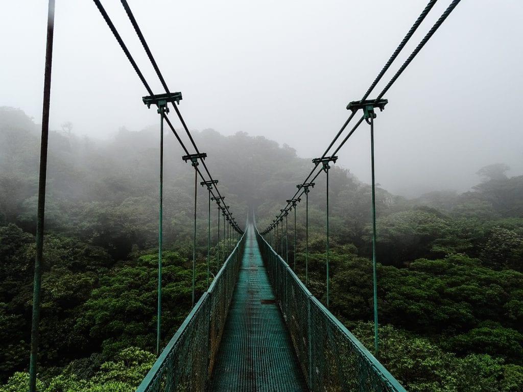 Alleen backpacken costa rica Monteverde - Suspension bridges 2