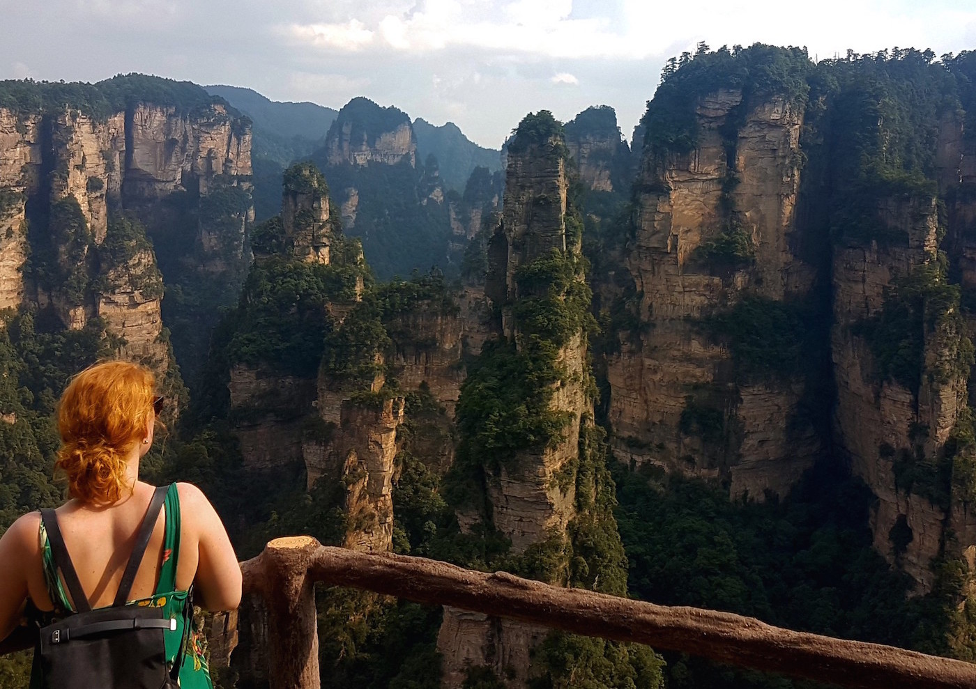 Alleen backpacken in China uitzicht floor