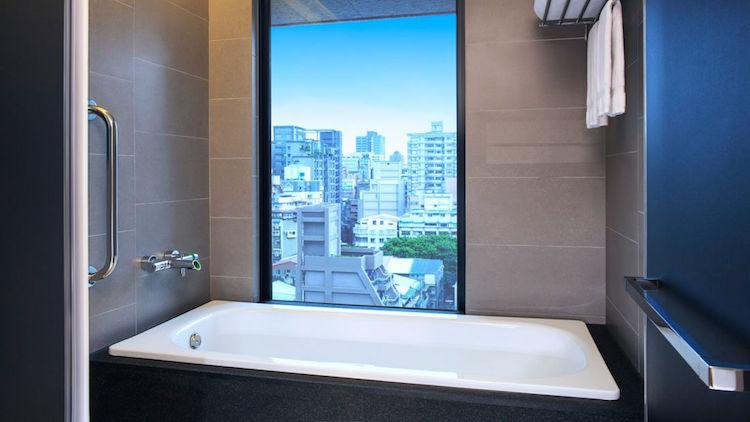 Aloft Hotel Zhongshans badkamer