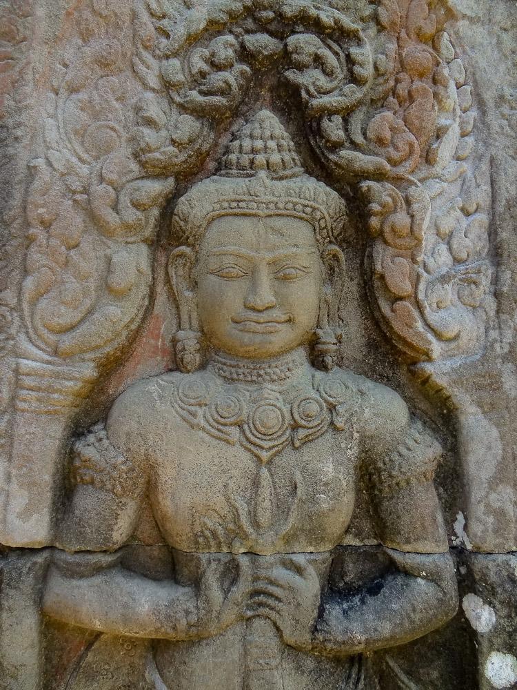 Angkor Wat detail in ruine tempel