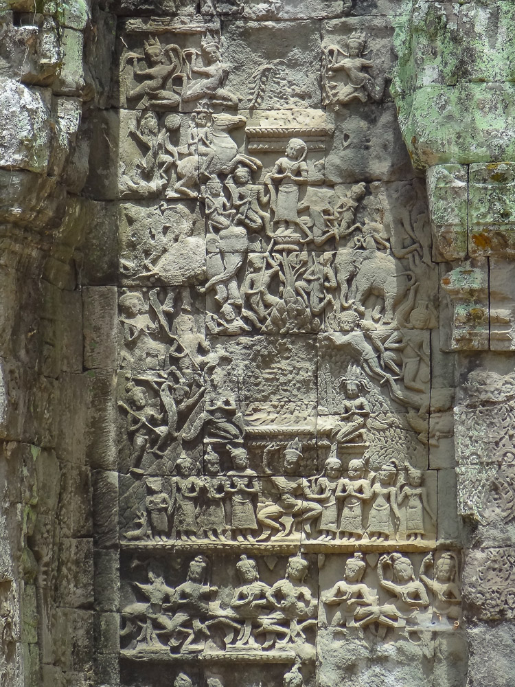 Angkor wat ruinestad detail
