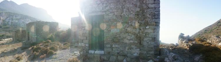 Architectuur karpathos ruines griekenland