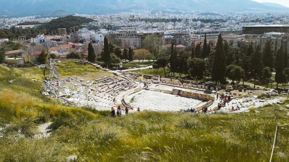 Athene Dionysustheater en Odeon van Herodes Atticus
