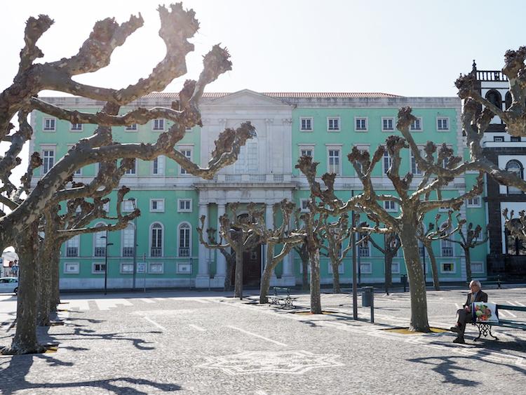 Azoren Ponta delgada portugal Praça 5 de Outubro