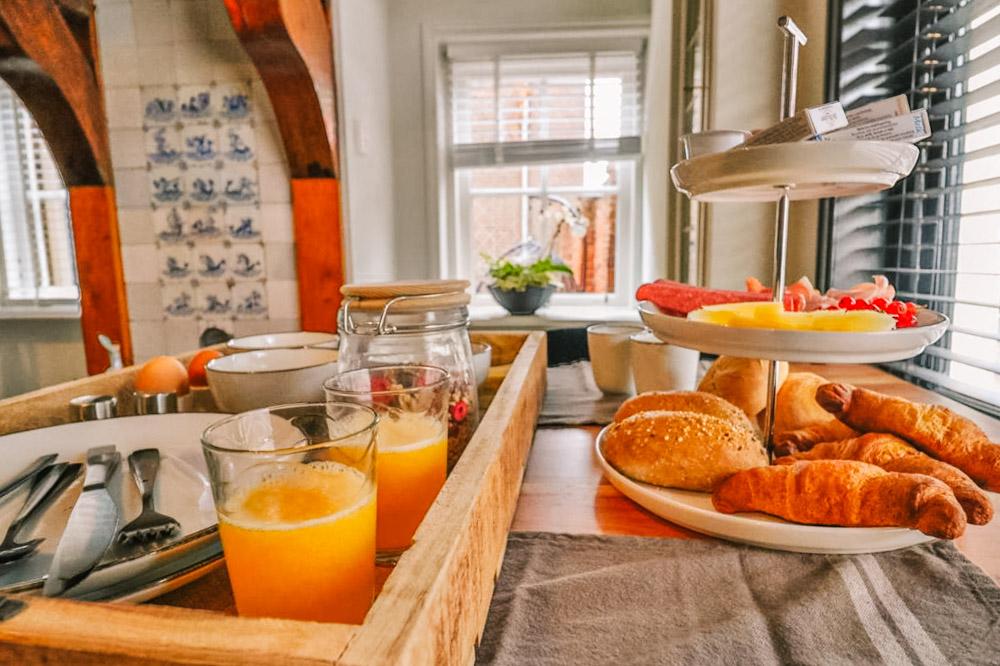 B&B Noord-Holland B&B de Makelaar ontbijtje