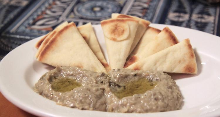 Baba ganoush eten in jordanie