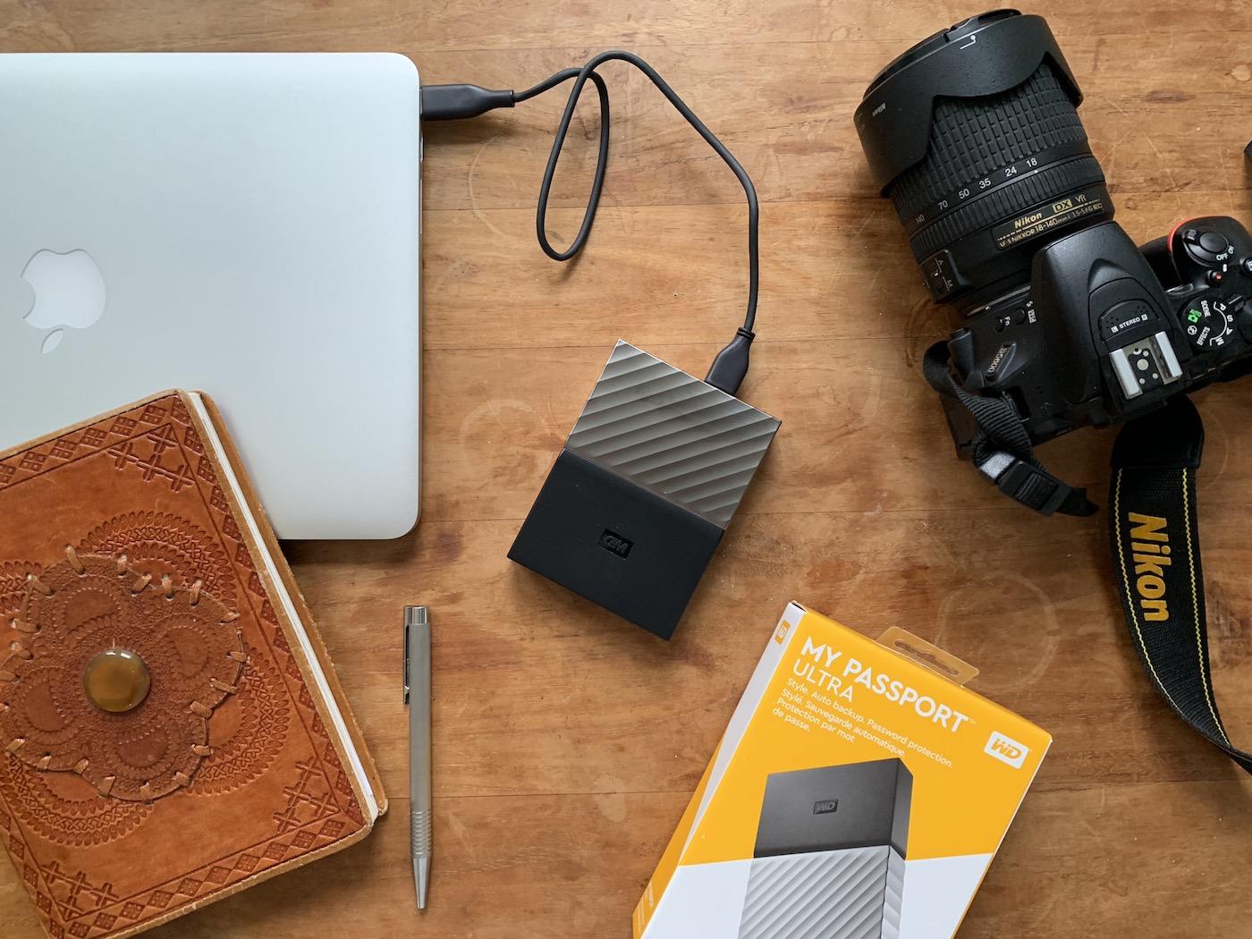 Back-up foto tijdens reizen