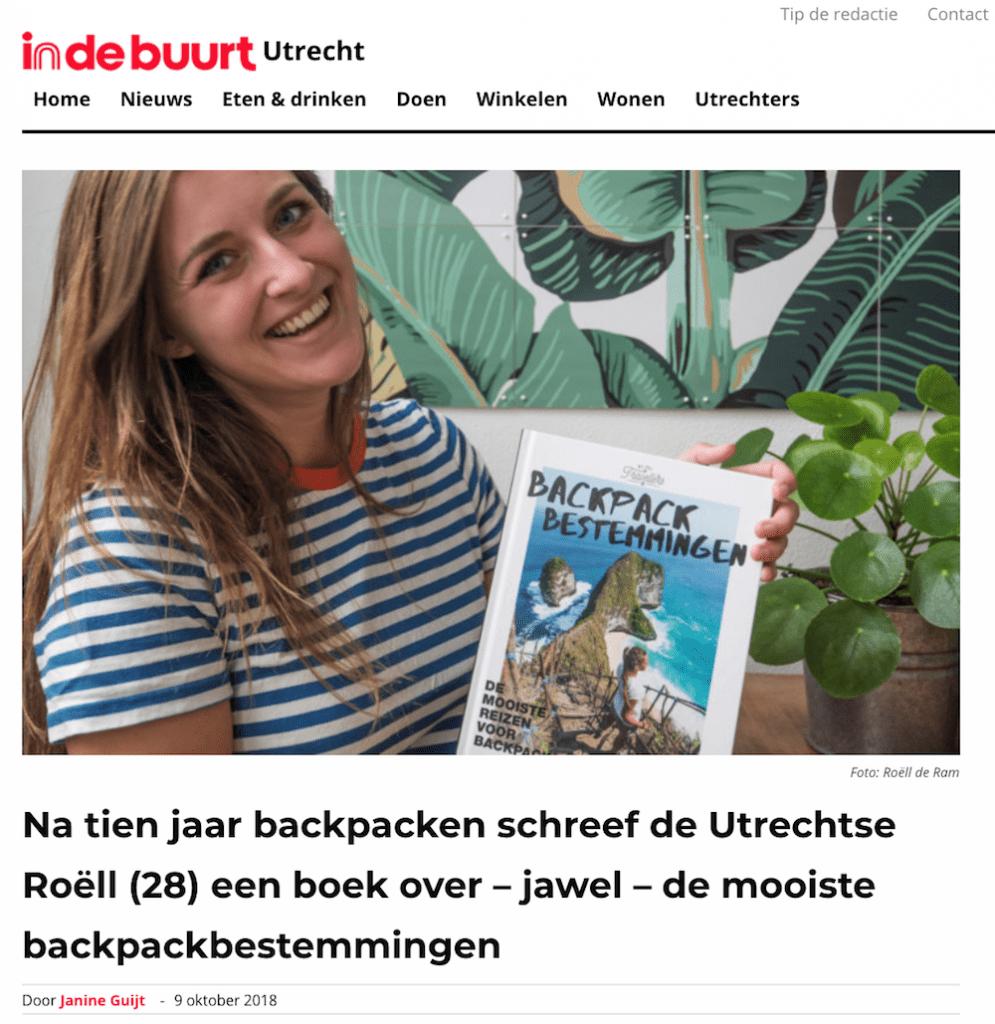 Backpack Bestemmingen IndeBuurt Utrecht