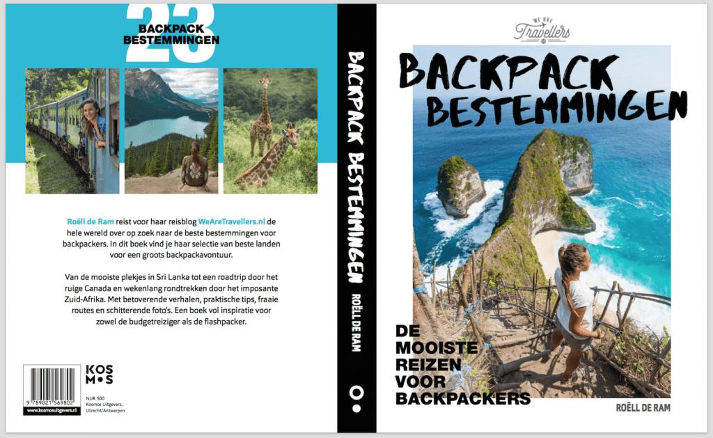 Backpack Bestemmingen boek inkijken exemplaar WeAreTravellers