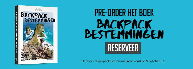 Backpack Bestemmingen boek pre order