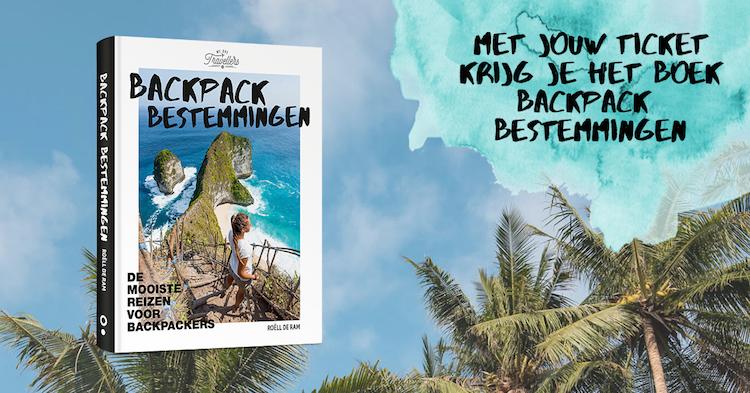 Backpack Bestemmingen boek ticket op WeAreTravellers Event