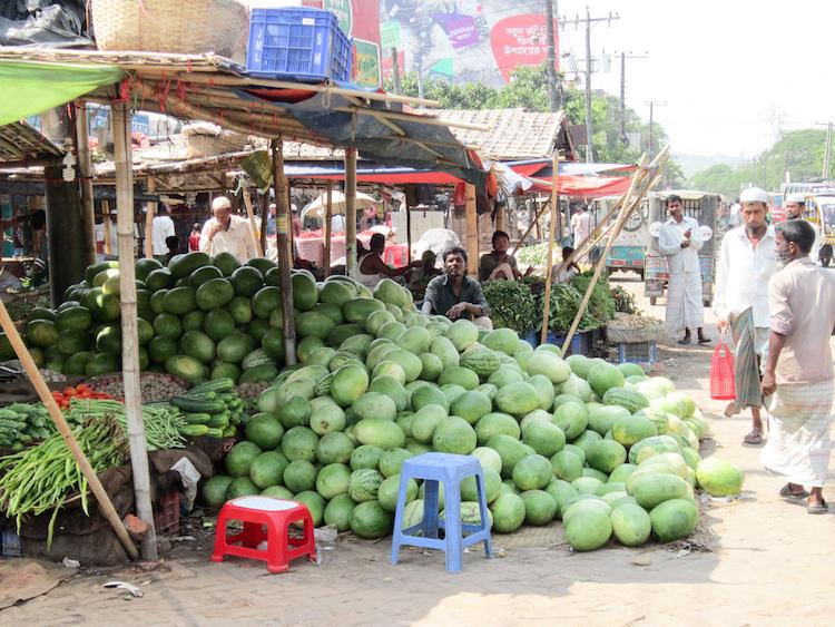 Backpacken Bangladesh markt