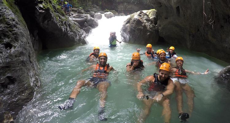 Backpacken Filipijnen alleen canyoning