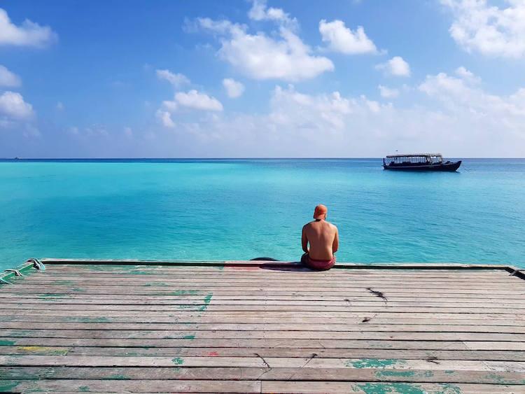 Backpacken Malediven Fulidhoo eiland