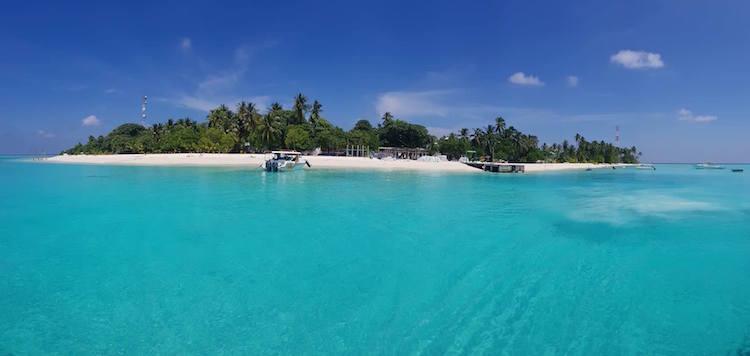 Backpacken Malediven eiland Fulidhoo