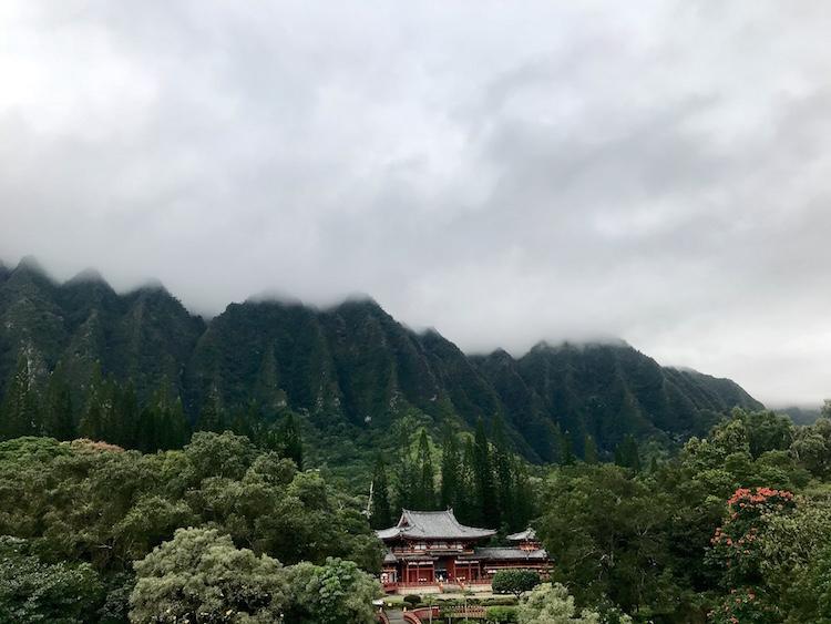 Backpacken in Hawaii tempel
