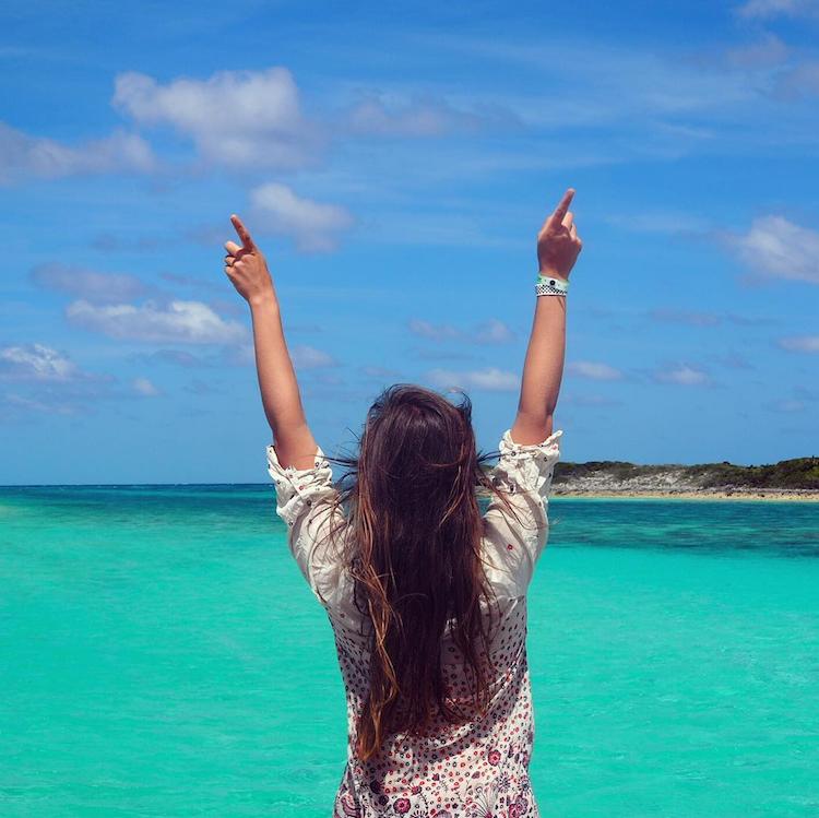 Bahamas Exumas blauwe zee