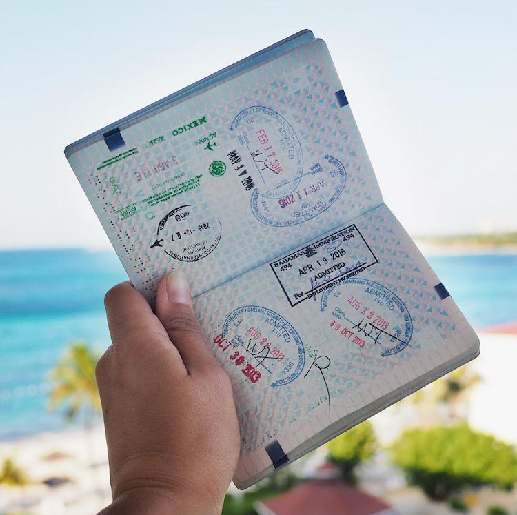 Bahamas stempel paspoort