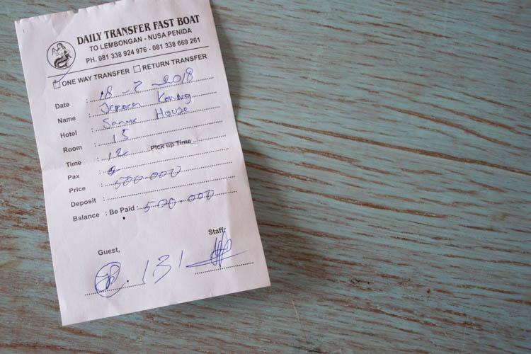 Bali naar Nusa Penida tickets