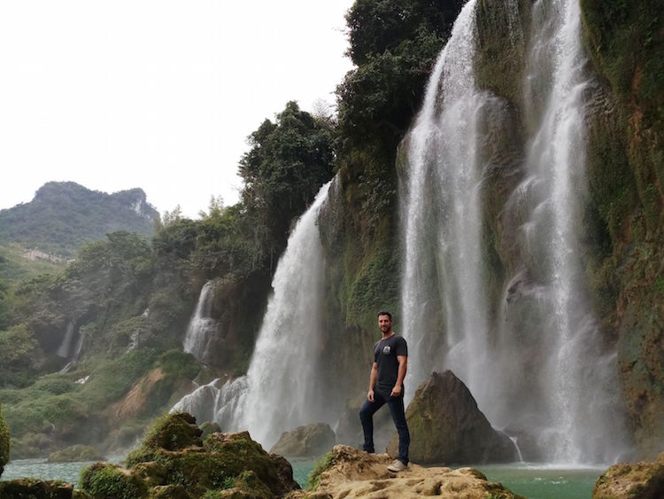 Ban Gioc Waterfall bij vietnam china grens