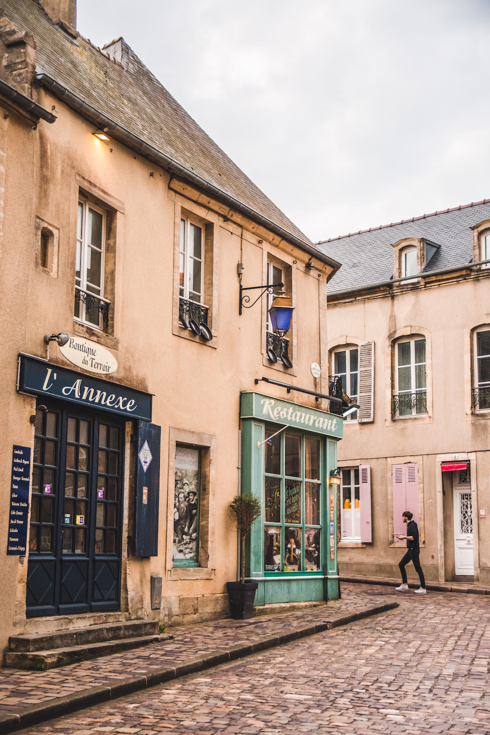 Bayeux straatjes in Normandie
