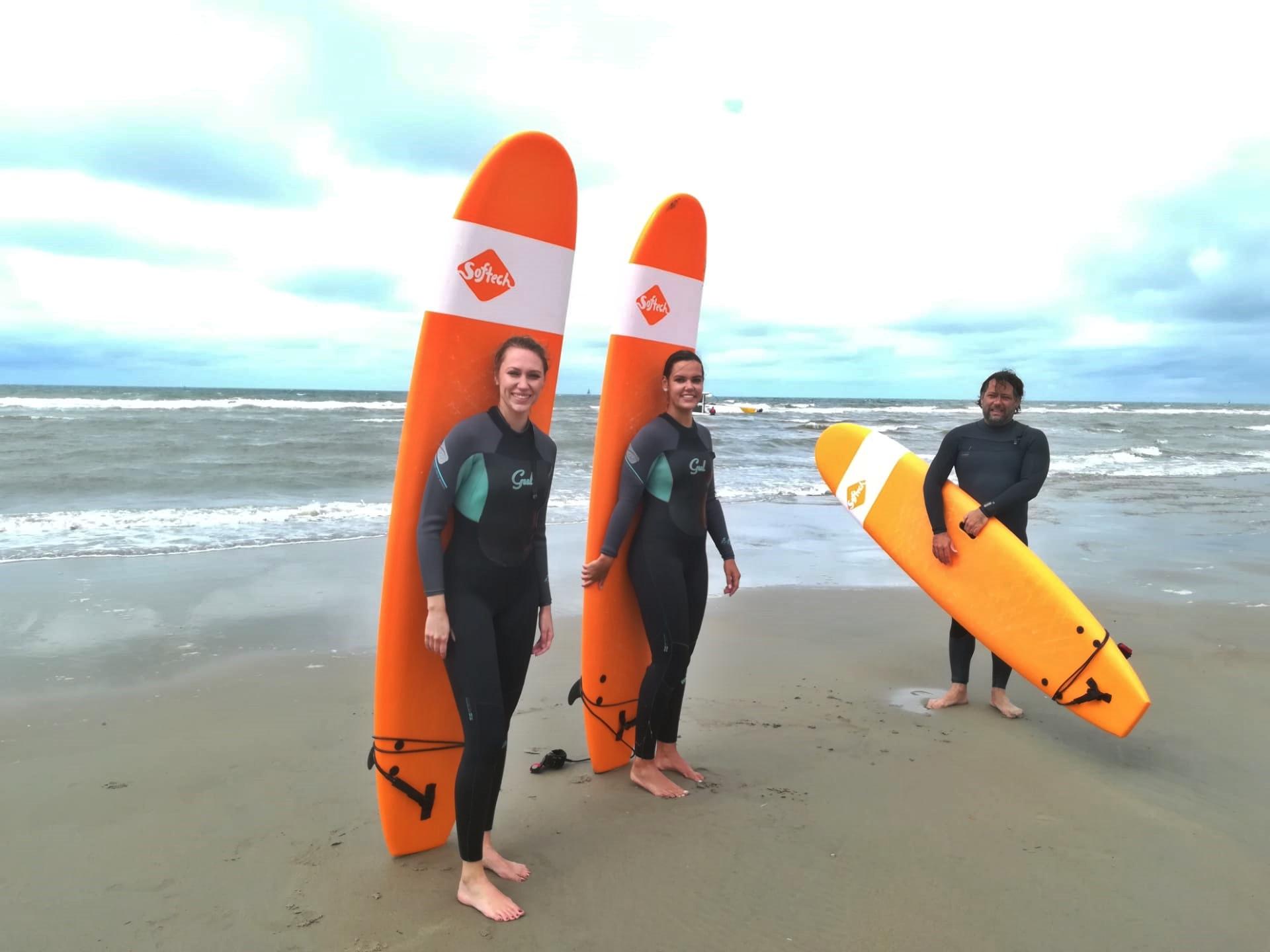 Belgische kust surfen dehaan windhaan