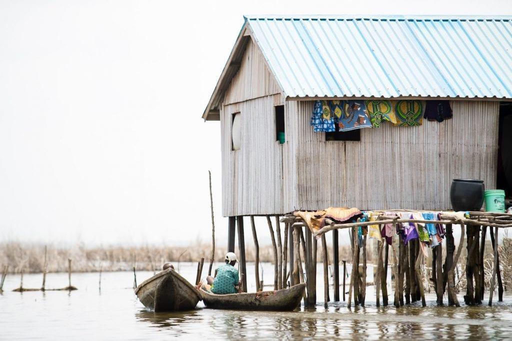 Benin Afrika Ganvie reizen naar Benin (Riske)