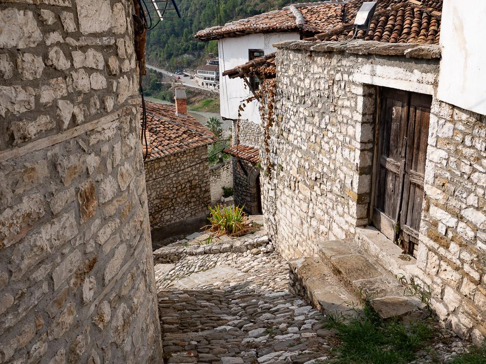 Berat Albanie op straat