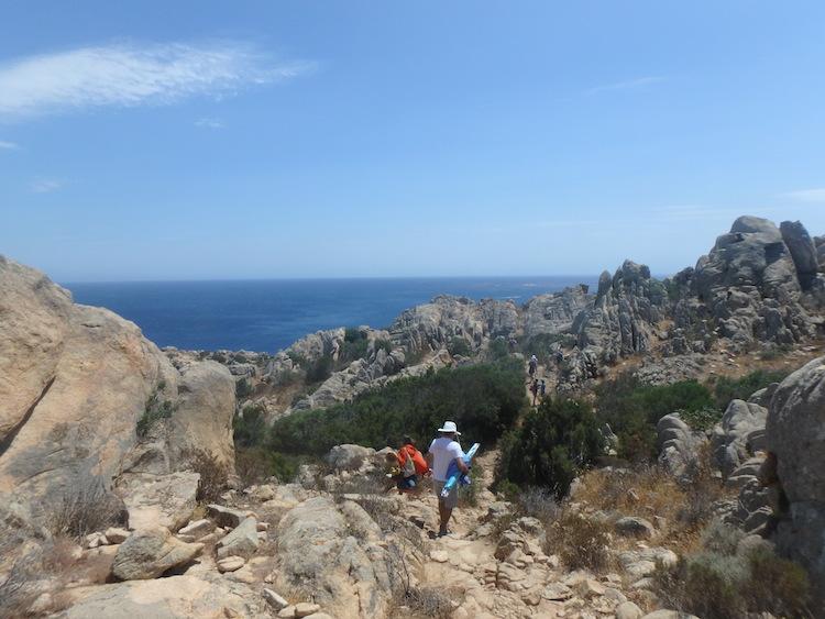 Sardinie bergen kust