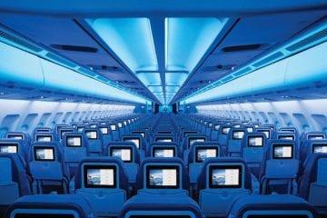 Binnen Air Transat vlucht