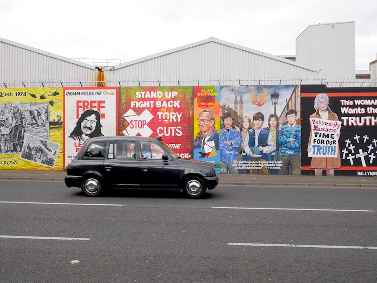 Black cab tour belfast noord ierland