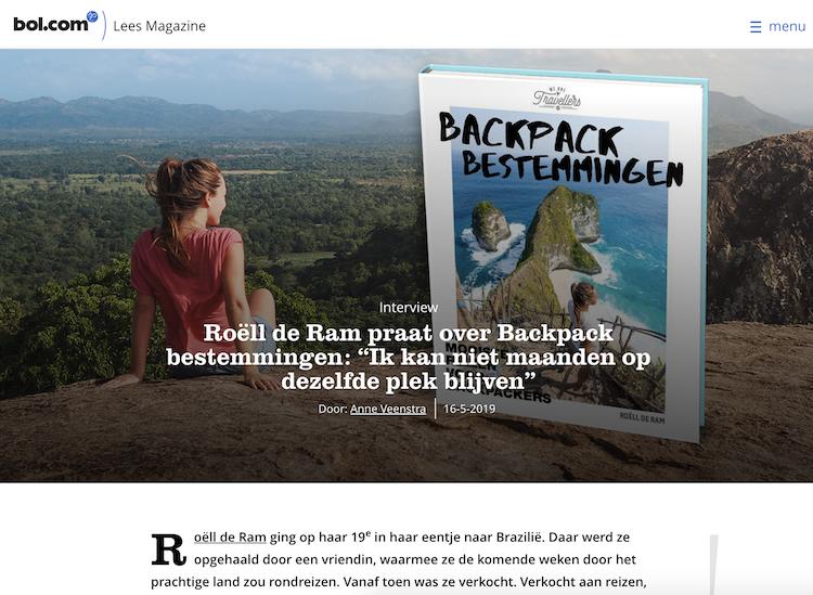 Bol leesmagazine interview backpack bestemmingen