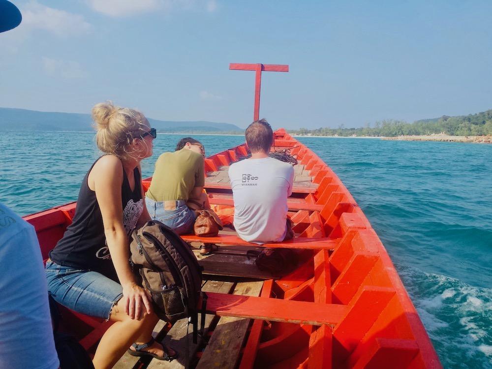 Boot naar Koh Rong Island cambodja