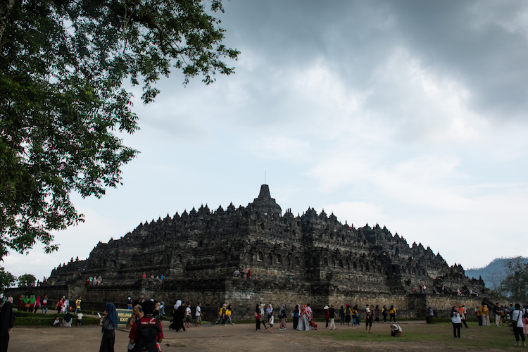 Borobudur drukte tempel yogyakarta