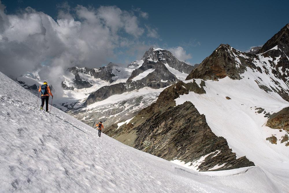 Breithorn beklimmen een van de gemakkelijke 4000ers