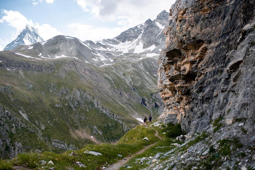 Breithorn beklimmen in zwitserse alpen