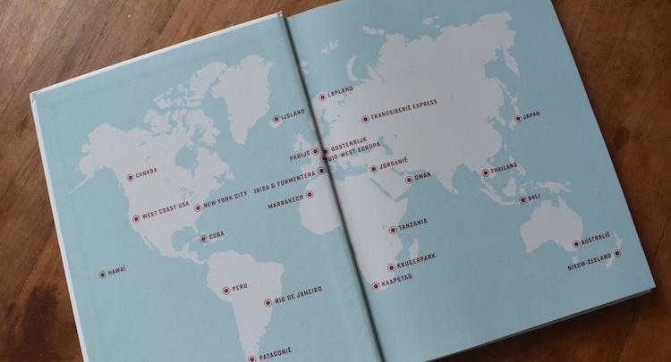 Bucketlist Reizen boek wereldkaart reisboek