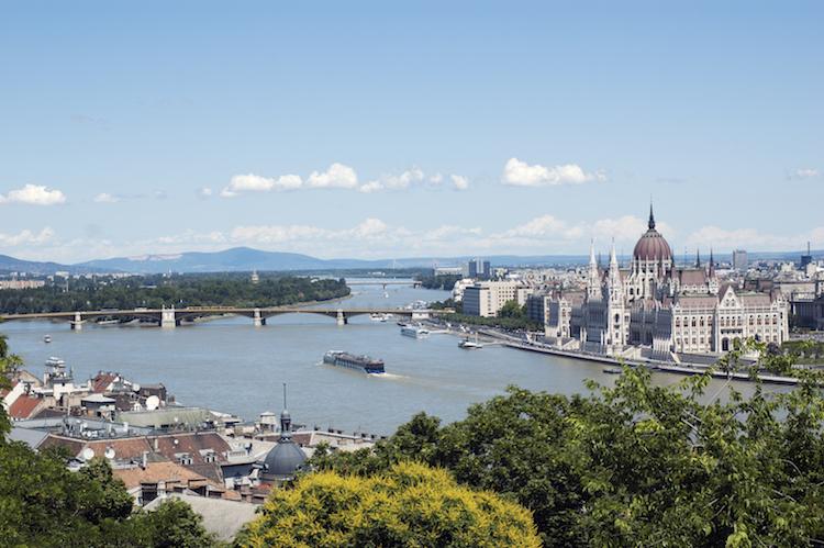 Budapest zomer uitzicht
