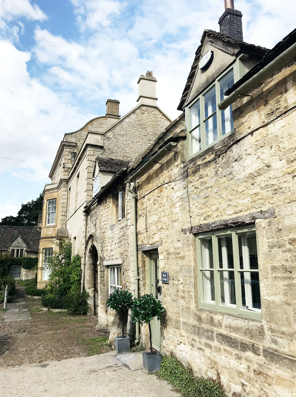 Burford straatje in cotswalds engeland