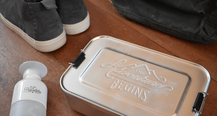 Cadeau voor Reiziger the adventure begins lunchbox