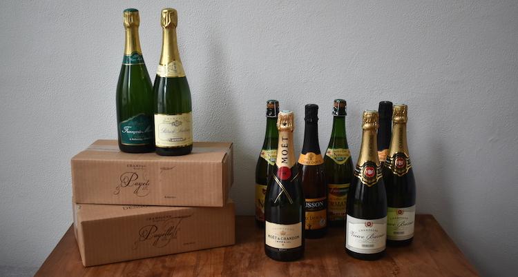 Cadeau voor reiziger champagne souvenir